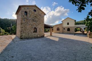 charming estate with 2 stone farmhouses and pool close Suvereto