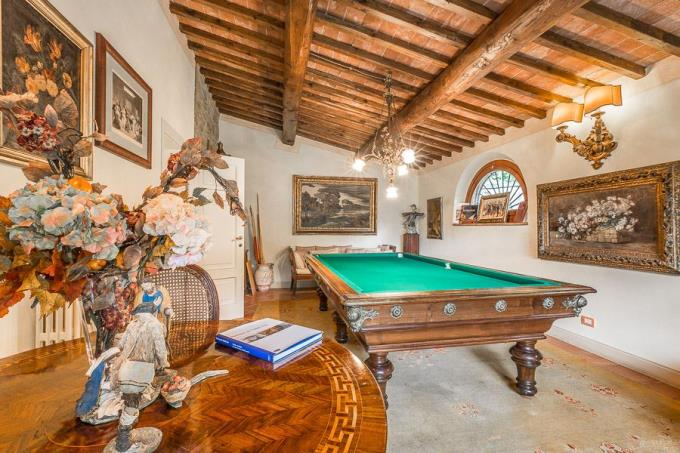 the prestigious billiard-room in the villa di charme for sale in tuscany-Chianni near pisa.jpg